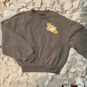 Comfy, cute cropped sweatshirt. Perfect condition